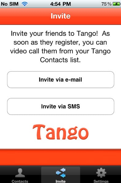 Приложение Tango