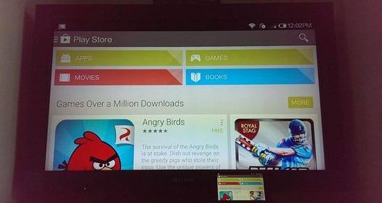 Экран неподдерживаемых Android устройств в Chromecast