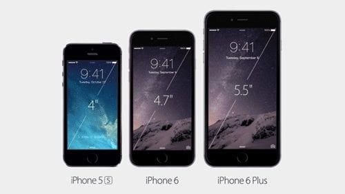 Размеры новых телефонов