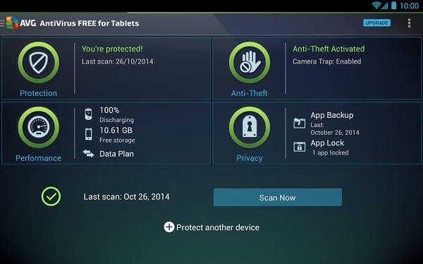 Скриншот приложения AVG