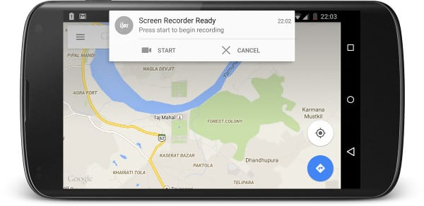 запись экрана на Android
