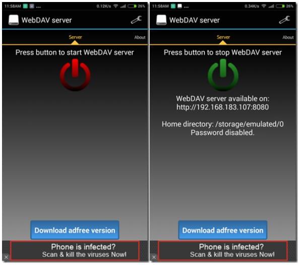 WebDAV Server на Андроид