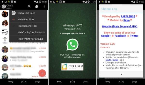 Скриншоты WhatsApp v6.76