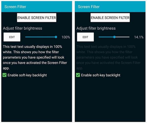 Настройка Screen Filter