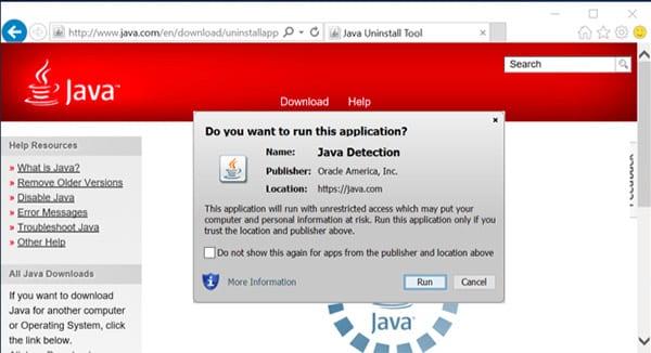 Включение поддержки Java