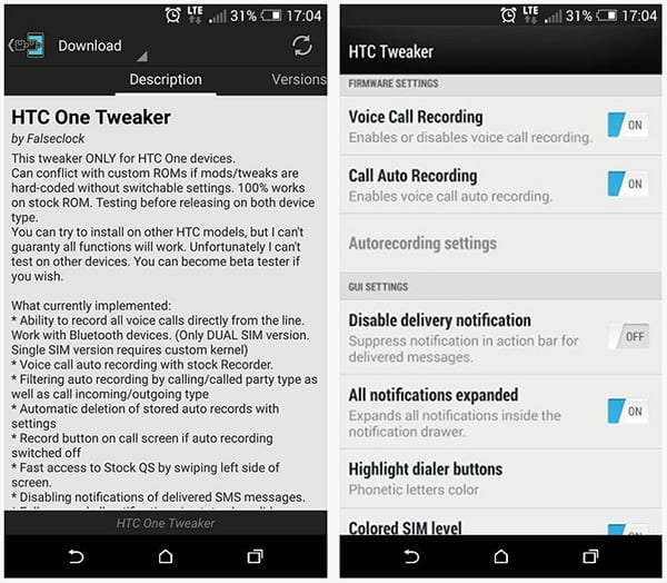HTC One Tweaker