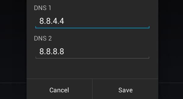 настройки DNS на Android