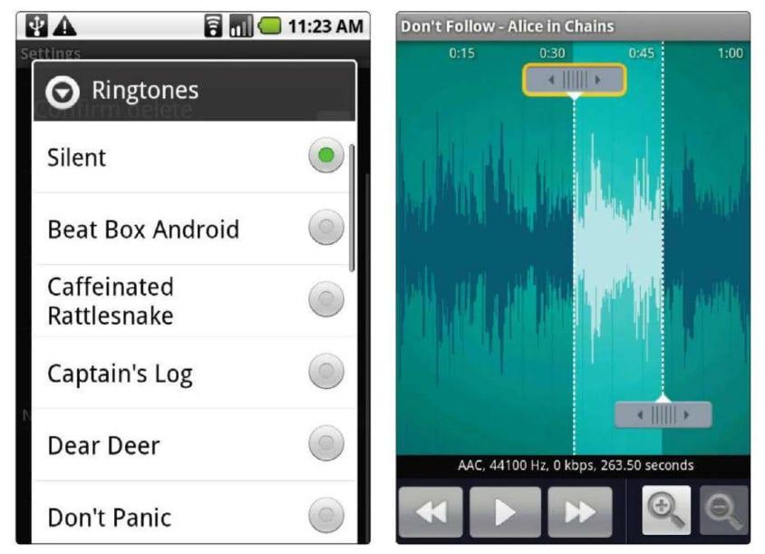 Android приложение RingDroid