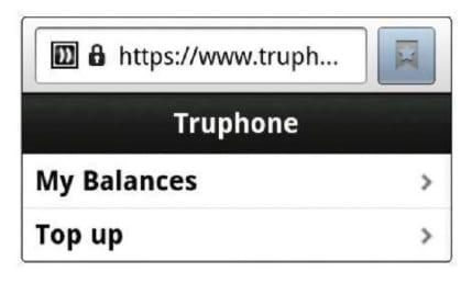 Баланс в Truphone на Android
