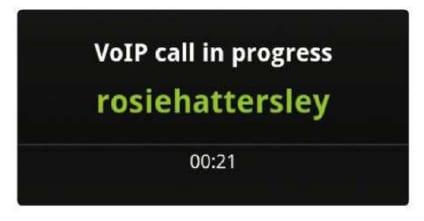 работа приложения VoIP на Android