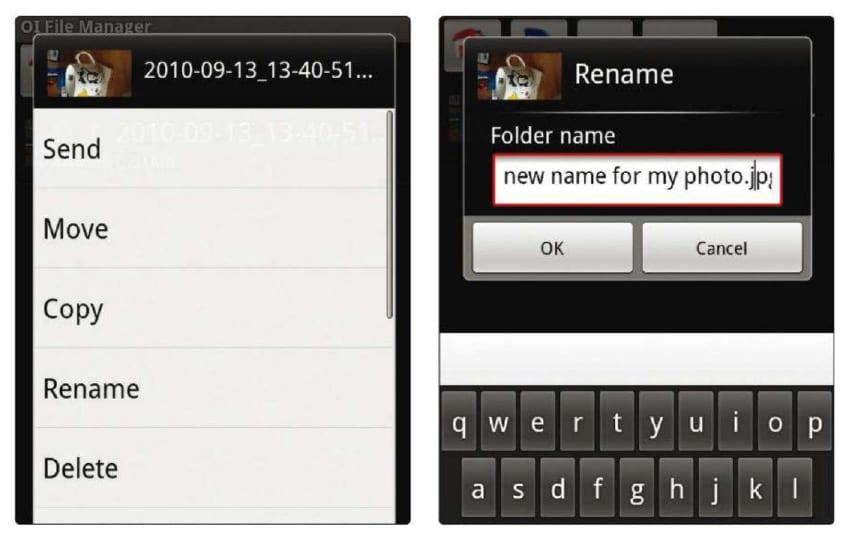 Переименовать файлы в Android