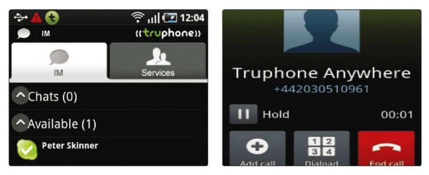 Начать разговор VoIP на Android