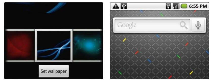 Виджеты и обои Android