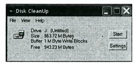 Исходное окно программы выполнения очистки дискового пространства накопителя