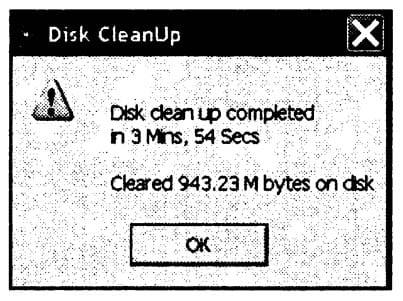 Отчет о работе, выполненной программой CleanUp на носителе
