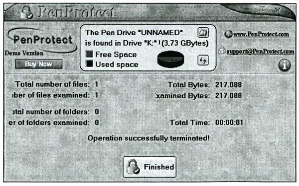 Завершение шифрования файла MHDD.doc