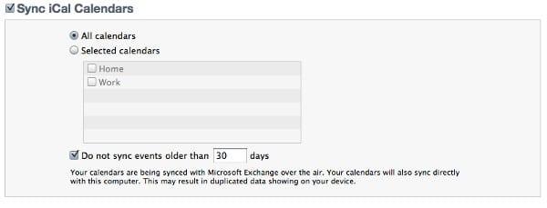 Вы можете синхронизировать со своим iPad выбранные календари