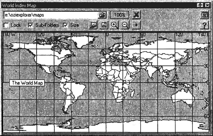Индексная карта World Map