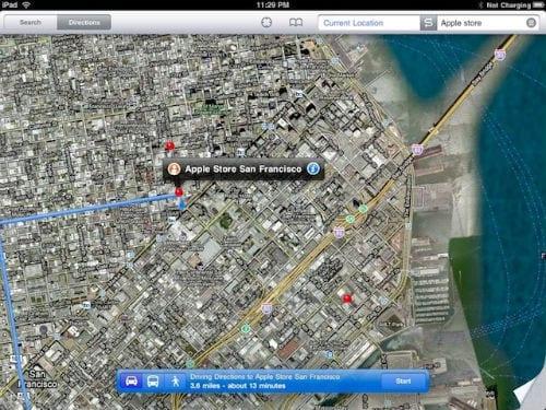 «Следить» (Tracking) на iPad