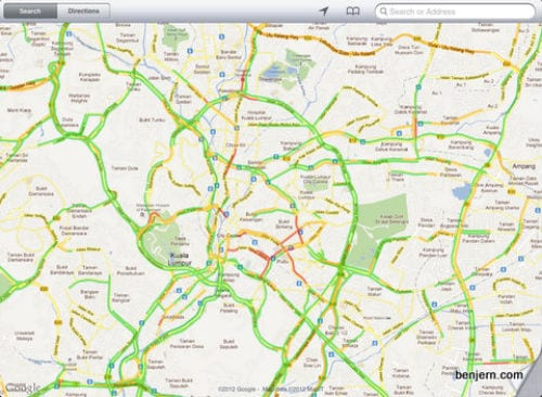 «Пробки» (Traffic) на iPad