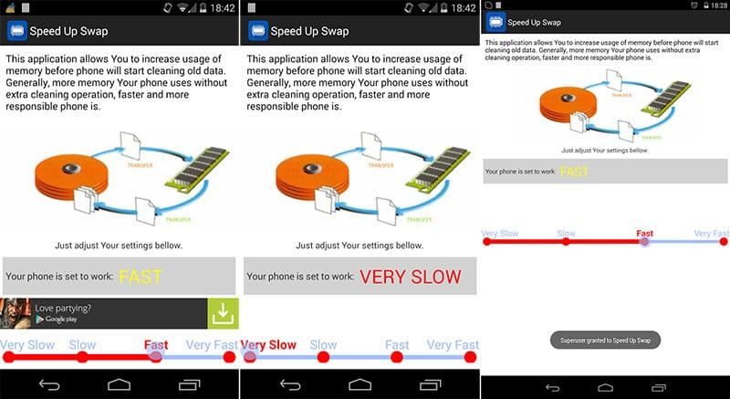 Приложение Speed Up Swap