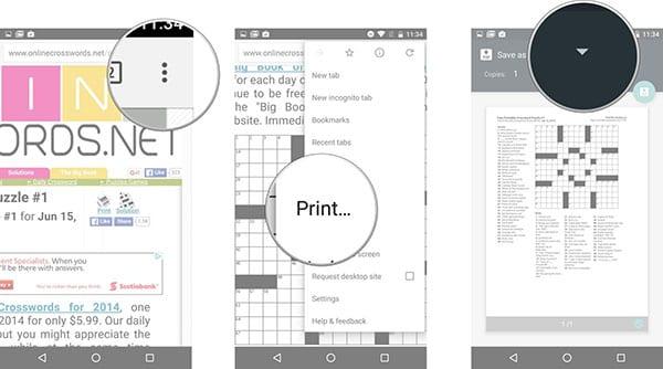 Печать с Android телефона