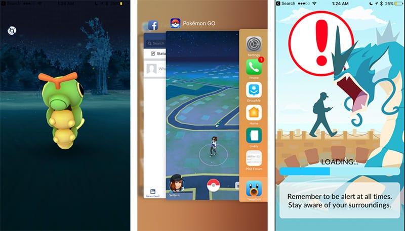 ошибка c GPS в Pokémon Go