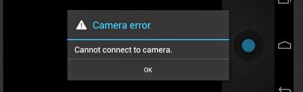 Сообщение - ошибка камеры