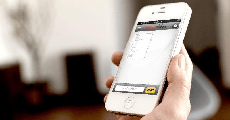 Отправка факса со смартфона