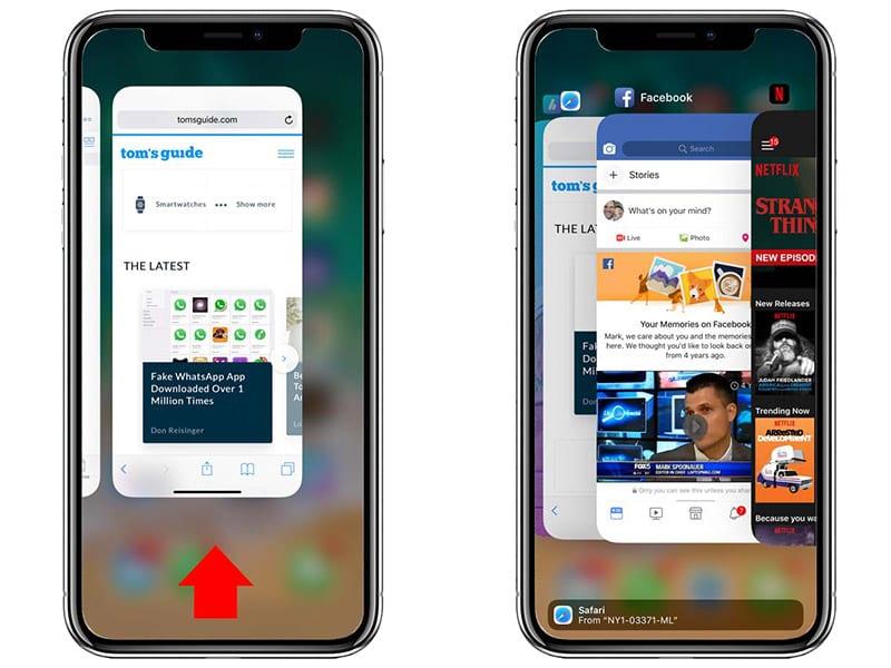 принудительное закрытие приложения на iPhone X